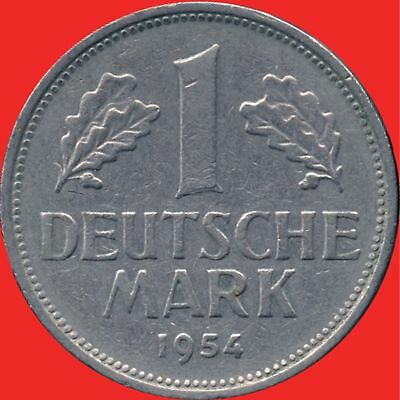 1954 'G' Germany 1 Mark Coin