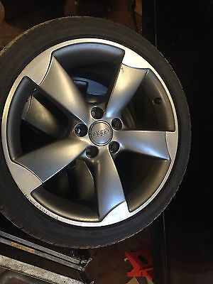 "4x Genuine Audi S3 Rotor Black Edition alloy wheels 18""+ good tyres"