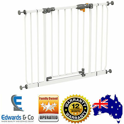 New Childcare Baby Child Safety Gate Pet Barrier Assisted AutoClose Security Gat