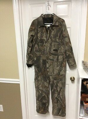 Liberty Real Tree Insulated Camo Coverall Youth 16 Regular Medium Weight