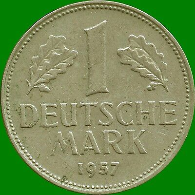 1957 'D' Germany 1 Mark Coin