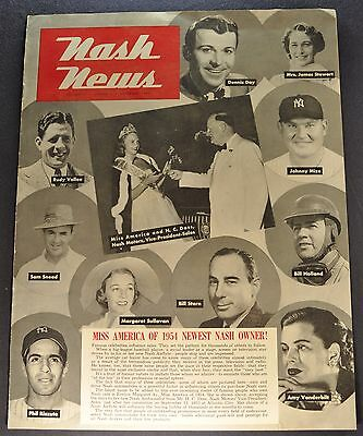 1954 Nash News Catalog Brochure Miss America Excellent Original 54