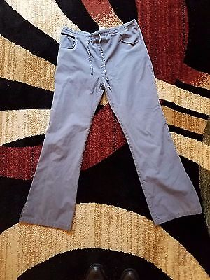 Dickies Unisex Gray With Pockets Drawstring Scrub Pants Size Small