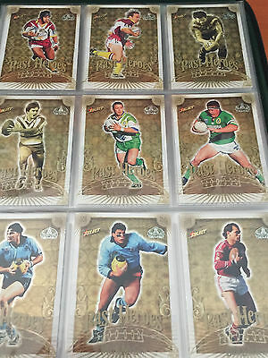 2008 NRL Centenary of Rugby League Past Heroes near complete set 31/32 cards