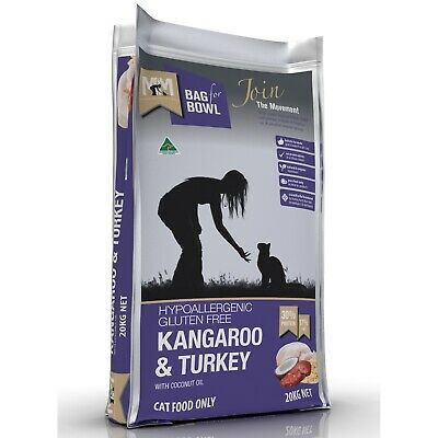 Meals for Mutts & Meows Kangaroo & Turkey - Cat Food - Made in Australia - 20kg