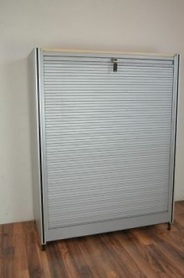 Office filling cabinet 2OH mit Roller shutter door, closeable