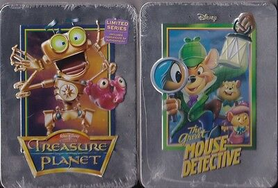 The Great Mouse Detective DVD Tin + Treasure Planet DVD Tin Disney Collectibles