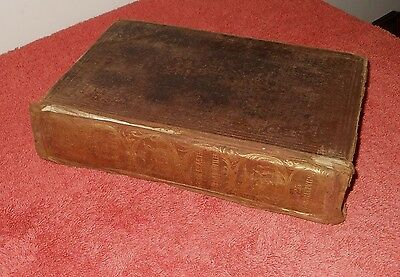 """Antique 1846 """"natural History Of The Earth & Man"""" Book~ Richard Cope"""