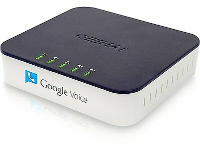 Obihai OBi202 VoIP Phone ADAPTER + ROUTER, 2 Phone VoIP Services ADAPTER