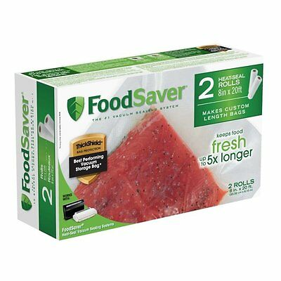 """FoodSaver 2-pack 8""""x20' Heat Seal Rolls FREE SHIPPING (BRAND NEW)"""