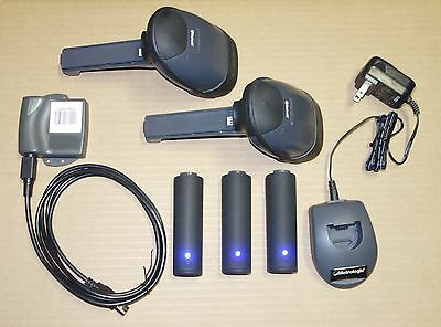 2x Metrologic MS1633 Wireless Bluetooth 2D Scanner USB SET +3 Battery +Inventory
