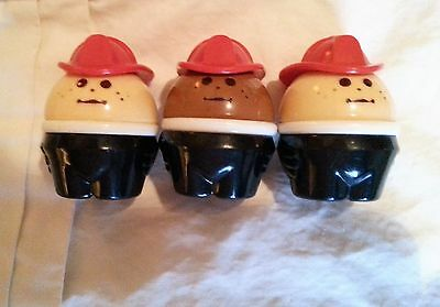 Vintage Little Tikes Toddle Tots Chunky People Fireman Lot of 3