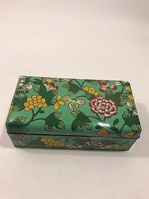 Chinese Antique Cloisonne Floral Enamel Hinged Box