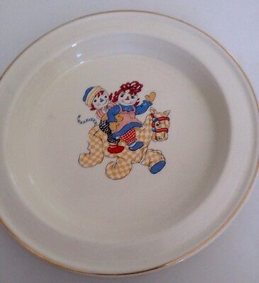 Raggedy Ann And Andy Child's Plate,1941, Crooksville,johnny Gruelle Copyright