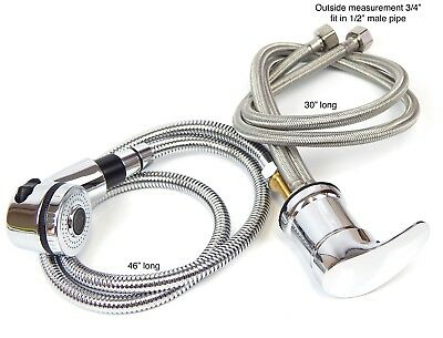 Faucet and Spray Hose for Beauty Salon Shampoo Bowl Parts Kit (Large Head)