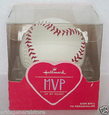 Hallmark MVP of My Heart Simulated Leather Stitched Autographable Baseball