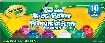 Crayola 10 59ml Paint Jars FREE SHIPPING (BRAND NEW)
