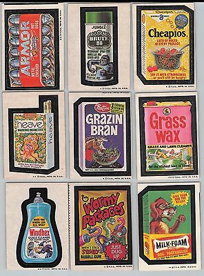 Lot of 1973-1974 Topps Wacky Packages Series 2-8,10 Partial Sets Total of 89