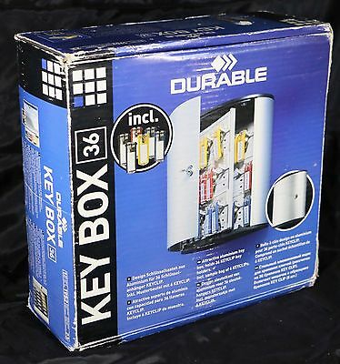 **BRAND NEW** Durable **36-KEY BOX** Brushed Aluminum Lock Cabinet DBL195223