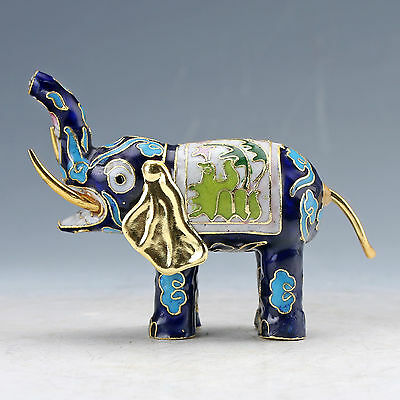 Chinese Collectable Cloisonne Handwork Elephant Statue D1227