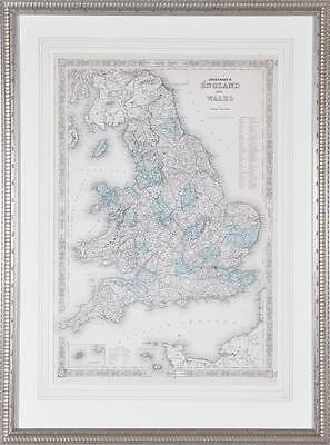 England and Wales map by A. J. Johnson Lot 2112