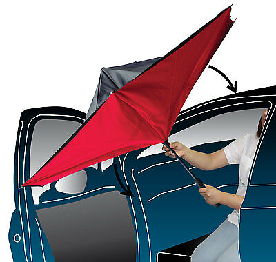 Upside Down Inside Inverted Umbrella Windproof Double Layer Handle Inside-Out