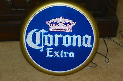 Corona Extra Electric Lighted Bottle Cap Advertising Display Sign  Color Changes