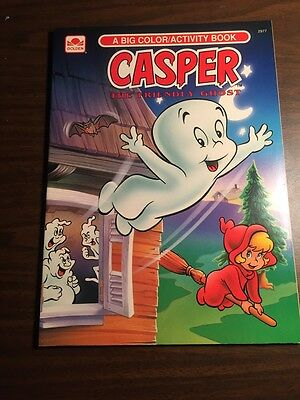 1992 GOLDEN BOOKS BIG COLORING & ACTIVITY BOOK CASPER THE FRIENDLY GHOST Vintage