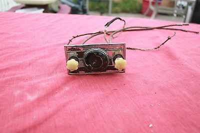 Vintage 1937 - 1938 Gm Chevy Radio Head With Cables