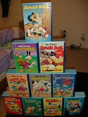 Disney Carl Barks Library COMPLETE SET 10 Volume 30 Book Donald Duck Scrooge Art