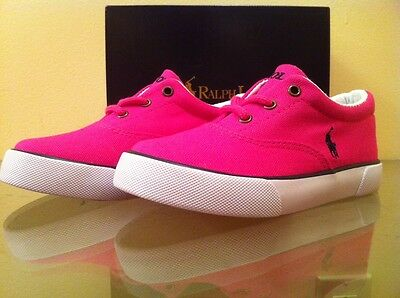 NIB Polo Ralph Lauren Girls 'Forestmont' Casual Shoes - Pink/Navy - L@@K!!