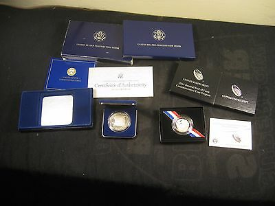 2014-S Baseball Coin & 1987 Constitution Proof Silver Dollar