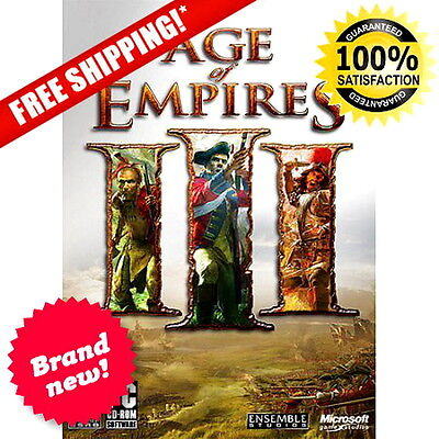 """Age of Empires III (PC) Pc New Edition 3 Game Sealed Complete Cd Gold """"NEW"""""""