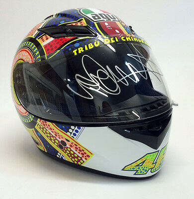 Valentino Rossi Hand Signed AGV Moto GP Full Size Helmet with Certifcate  #REAL#
