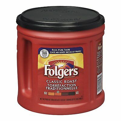 Folgers Classic Roast Ground Coffee 920 Grams FREE SHIPPING (BRAND NEW)
