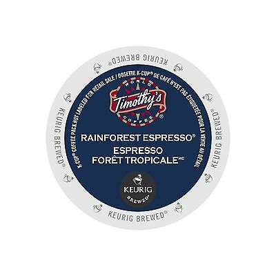 Timothy`s World Coffee Rainforest Espresso 30 K-Cups FREE SHIPPING (BRAND NEW)