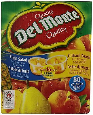 Del Monte Peach and Fruit Salad Club Pack FREE SHIPPING (BRAND NEW)