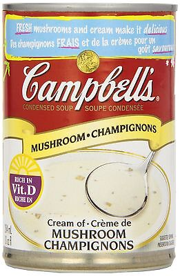 Campbell's Cream of Mushroom Soup, 284 ml (Pack of 12) FREE SHIPPING
