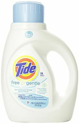 Tide Free and Gentle He Liquid Laundry Detergent, 24-Loads, 1.09-Liter