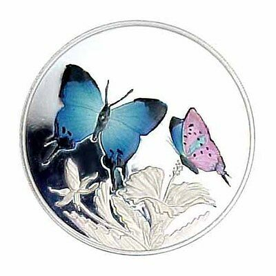 1999 Turks & Caicos 20 Crown Hairstreak Butterfly AU/Proof