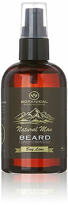 Natural Man Bay Lime Beard Oil 4oz - All Natural Beard Conditioner by Botanical