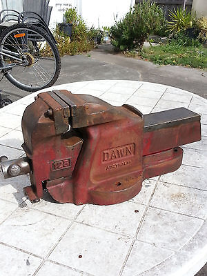 Rare Vintage 125 Dawn Heavy Duty Engineer's Vise With Quick Release 34kg
