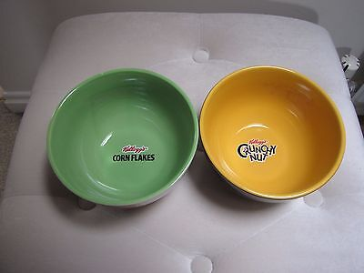 Kelloggs Cornflakes/Crunchy Nut Cereal Bowls x2 Brand New