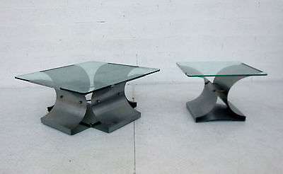 Pair of coffee table Francois Monnet for Kappa 70s