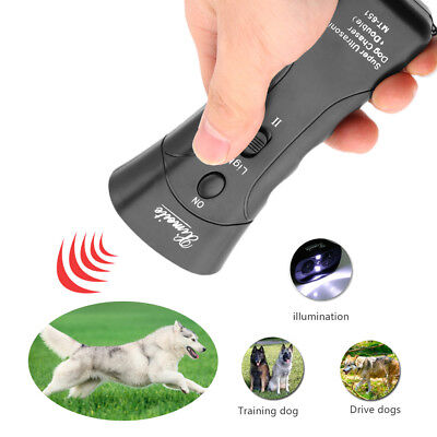 HOT Ultrasonic Dog Chaser Stop Aggressive Animal Attacks Repeller Flashlight