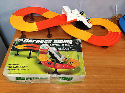 Vintage 1970's Sunny Toys BAttery Operated Harness Racing Game