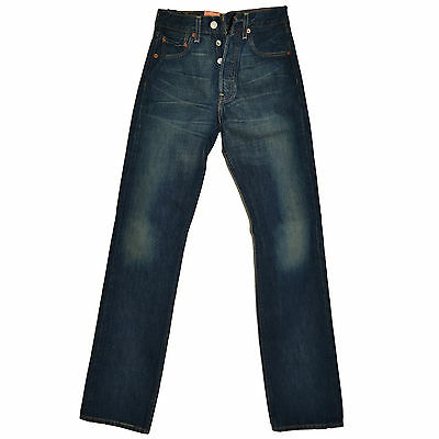 LEVIS 501 Preshrunk Jeans Button Fly Dirty Look 26/32 Levis Strauss 36 Blue