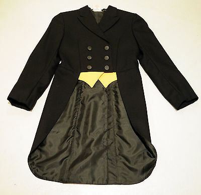 Grand Prix shadbelly black hunt coat show jacket KIDS GIRLS 16 $475