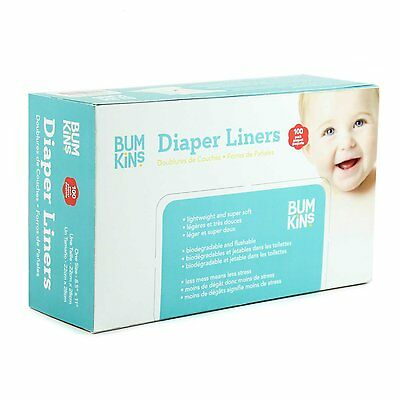 Bumkins Flushable Diaper Liner, Neutral, 100-Pack FREE SHIPPING (BRAND NEW)