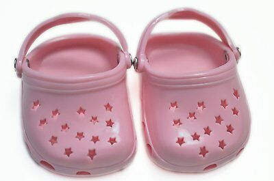 Pink Star Clogs For American Girl Dolls Free Shipping (Brand New)